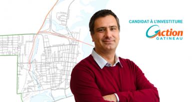 Maxime Gauld, candidat à l'investiture d'Action Gatineau