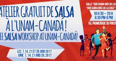 Atelier gratuit de salsa a l'UNAM-CANADA