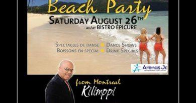 Party de plage style Punta Cana au  Bistro Épicure