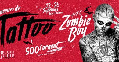 Concours de tattoo avec Zombie Boy – Belle & Boeuf Gatineau