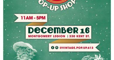 Vintage holiday pop-up shop