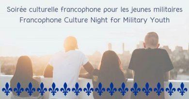 Soirée francophone pour les jeunes militaires